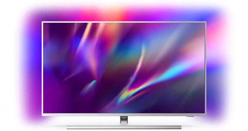 Philips Ambilight 50PUS8505/12 - Televisor Smart TV de 50 Pulgadas (4K UHD, P5 Picture Engine, Dolby Vision, Dolby Atmos, Control de Voz, Android TV), Color Plata Claro (Modelo de 2020/2021) [Clase de eficiencia energética G]