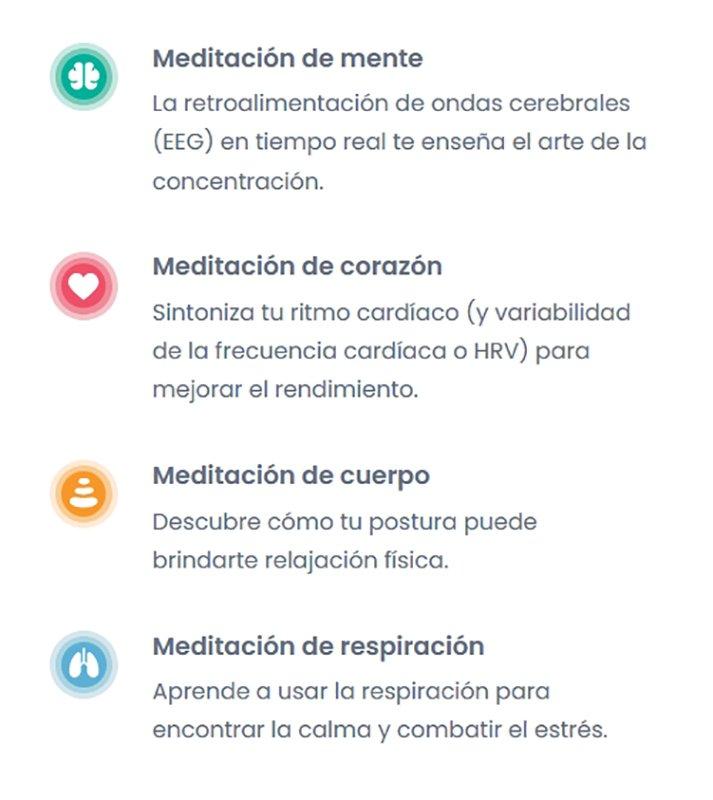 Diadema Muse 2 - Tipos de meditación