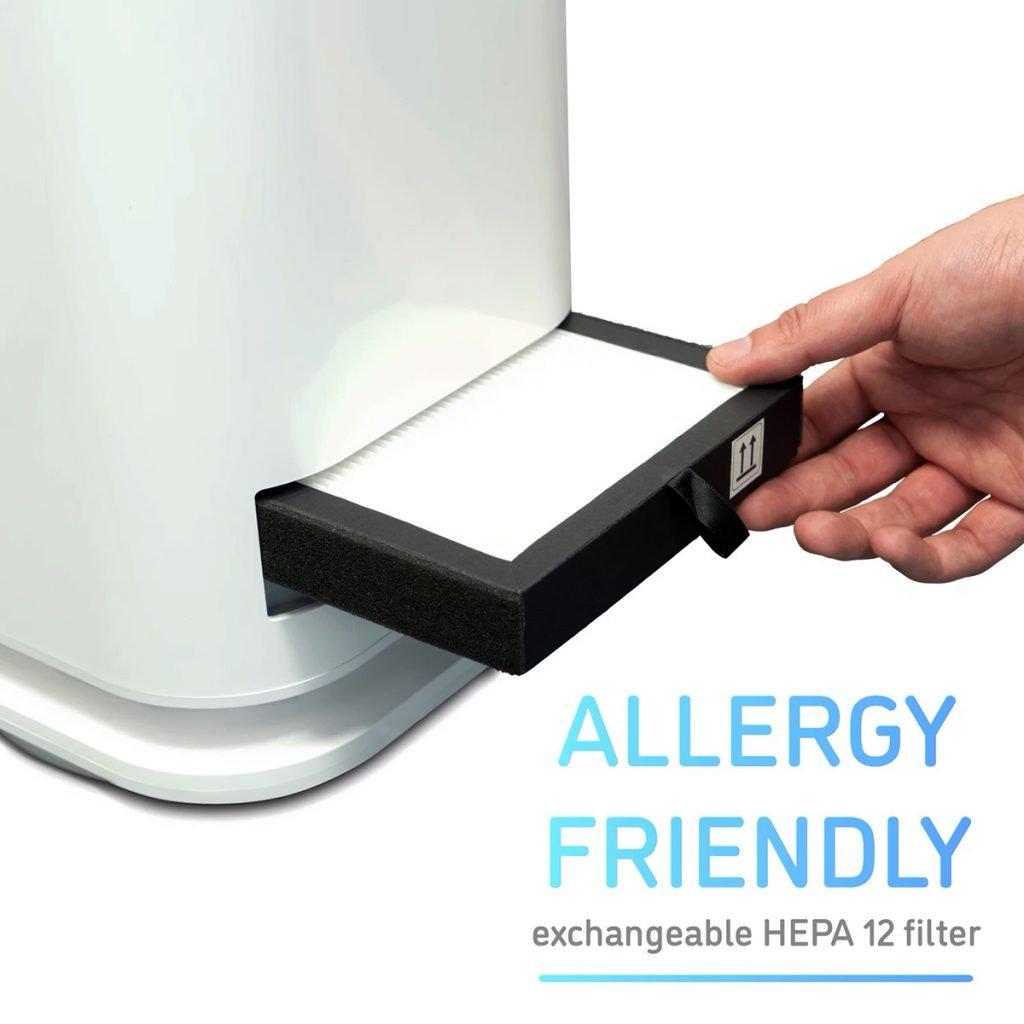 Ventilador Inteligenes - DJIVE filtros HEPA12 intercambiables