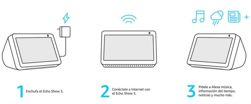 Echo Show 5 Fácil configuración