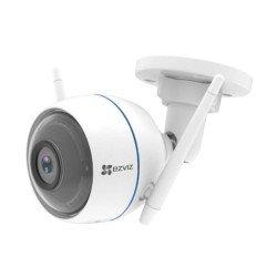 EZVIZ ezTube 1080P Cámara de Seguridad, Defensa Activa, Compatible con Alexa, Luz Estroboscópica y Sirena, Dos Antenas Wifi Externas, Audio de 2 Vías, Servicio de Nube Disponible