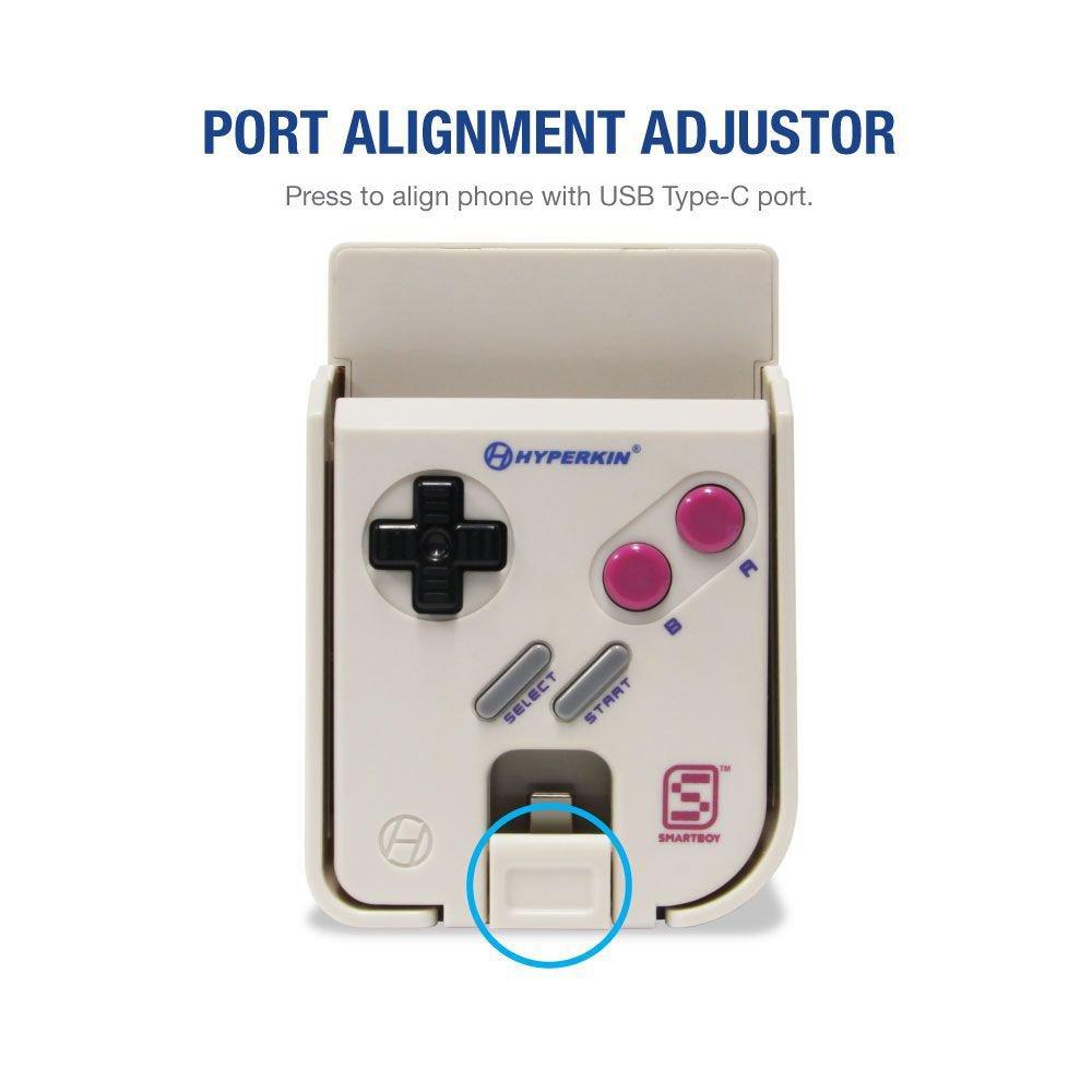 Hyperkin SmartBoy - Botón para mover el USB-C y que encaje con el móvil