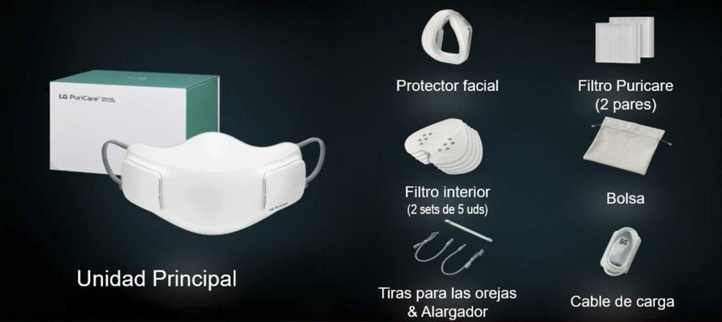 LG PuriCare - Estos son los componentes de la caja.