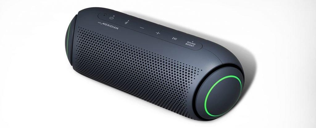 LG XBOOM Go PL5 - Altavoz Bluetooth de 20W de Potencia con Sonido Meridian, autonomía 18 Horas, Bluetooth 5.0, protección IPX5, iluminación LED, USB-C, comandos de Voz Google y Siri, Dual Action Bass