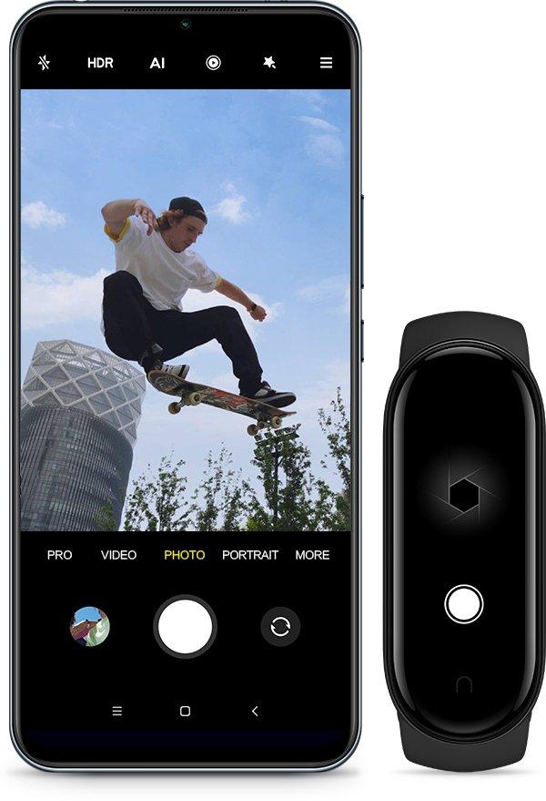 Mi Smart Band 5 - Toma fotos desde tu movil, presionando en tu reloj