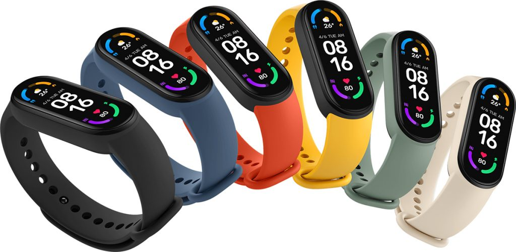 Mi Smart Band 6 - como de costumbre, con vários colores a elección