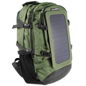 C-LC Mochila Solar Bolsa de Panel Solar de 7 vatios con teléfono Inteligente, teléfono con Android, Tableta y Muchos Otros Dispositivos de Carga USB 5v,Green
