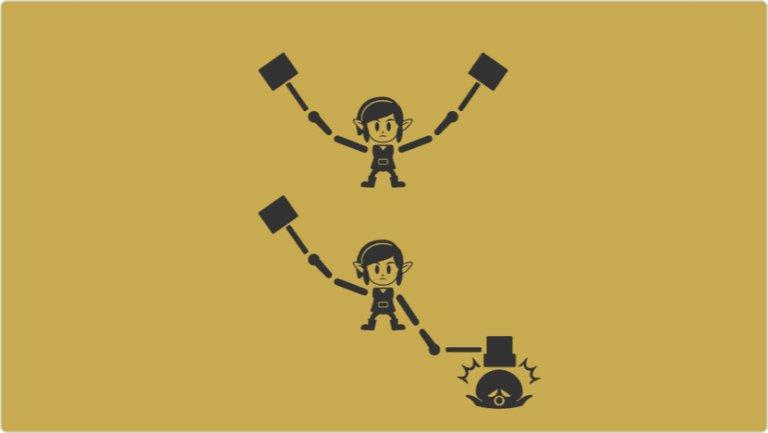 Nintendo Game & Watch - Clobber Moles versión con Link