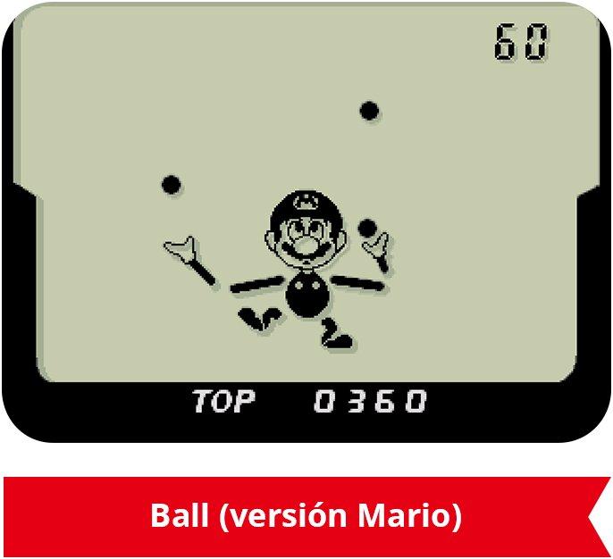 Nintendo Game & Watch Mario - El clásico Ball, protagonizado por Mario