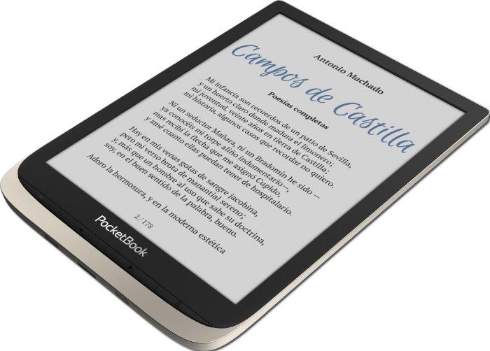 PocketBook InkPad Color - La luz frontal brinda la libertad de leer cuando y donde quiera.