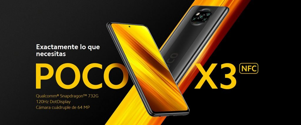 """Comparativa 2021 - POCO X3 NFC - Smartphone 6+128GB, 6,67"""" FHD+ cámara frontal con Punch-hole, Snapdragon 732G, 64 MP con IA, Quad-cámara, 5160 mAh, color Gris Sombra (Versión Española + 2 años de garantía)"""