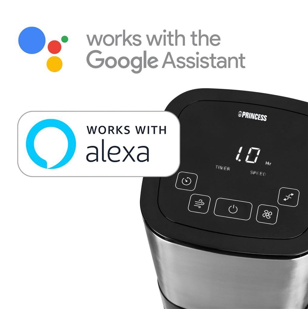 Ventilador Inteligente - Princess 350000, funciona con Alexa y Google Home