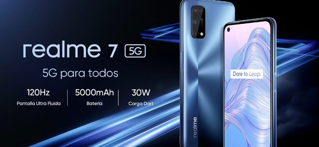 Comparativa 2021 - realme 7 5G - smartphone de 6.5, 6GB RAM + 128GB de ROM, 120Hz Ultra Smooth Display, 48MP Quad Camera, batería con 5000mAh y carga de 30W Dart Charge, Color Azul