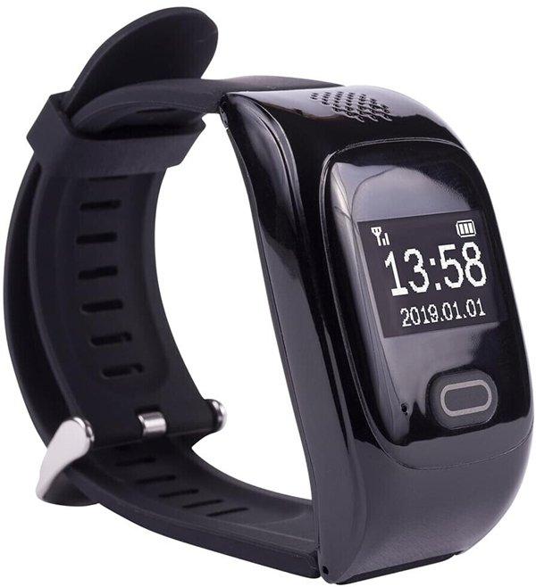 Solino - reloj de emergencia, disimulado, por su apariencia de Smart Band.