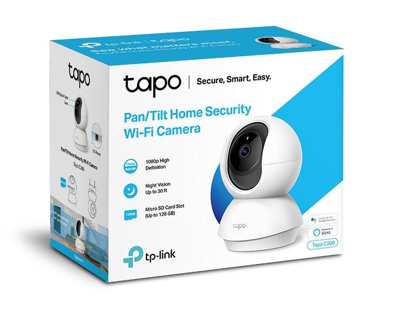TP-Link – Cámara IP WiFi 360º, Cámara de Vigilancia FHD 1080p, Visión nocturna, Admite tarjeta SD, Audio Doble Vía, Detección de movimiento, Control Remoto, Fácil Configuración, Compatible con Alexa