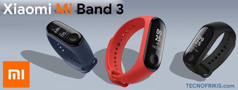 Xiaomi Mi Band 3 - Pulsera de actividad con Heart Rate en la muñeca [VERSIÓN EU], pantalla 0.78'' full OLED táctil, notificaciones, sumergible 50m, mide calorías, pasos y sueño.